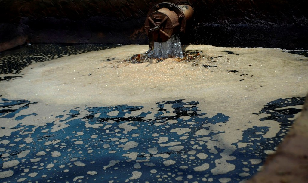 نشت نفت در مزارع جنوب پایتخت