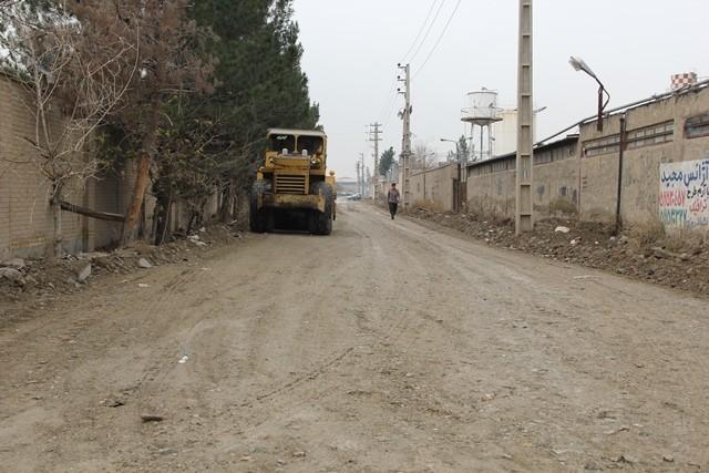 اجرای طرح عمرانی در معابر صنعتی شهر کهریزک