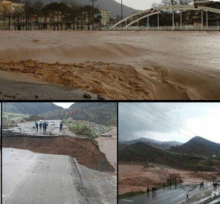 سیلاب در لرستان کشته داد/انسداد راه ۳۰۰ روستای دلفان/تخلیه دورود