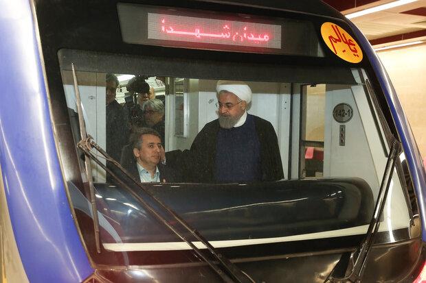 فاز اول خط ۶ مترو تهران به بهرهبرداری رسید