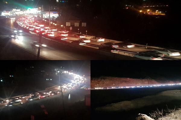 ترافیک پرحجم در ورودی های پایتخت